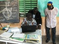 Un enseignant du village expérimentant Afripédia avec @fasokan